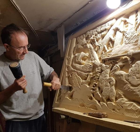 Барельефные картины из древесины Абаши